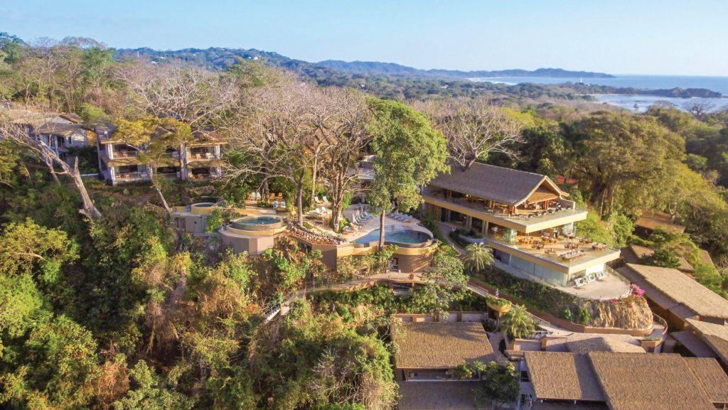 Costa Rica - Nosara - 1570 - Aerial shot of lodges