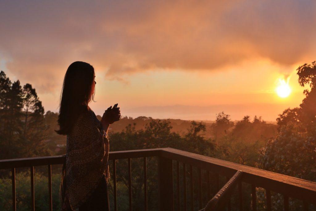 Senda Monteverde Balcony View at Sunset