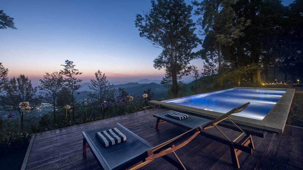 Sri Lanka - Kandapola - 1567 - Goatfell - Teardrop Hotels Swimming Pool Views