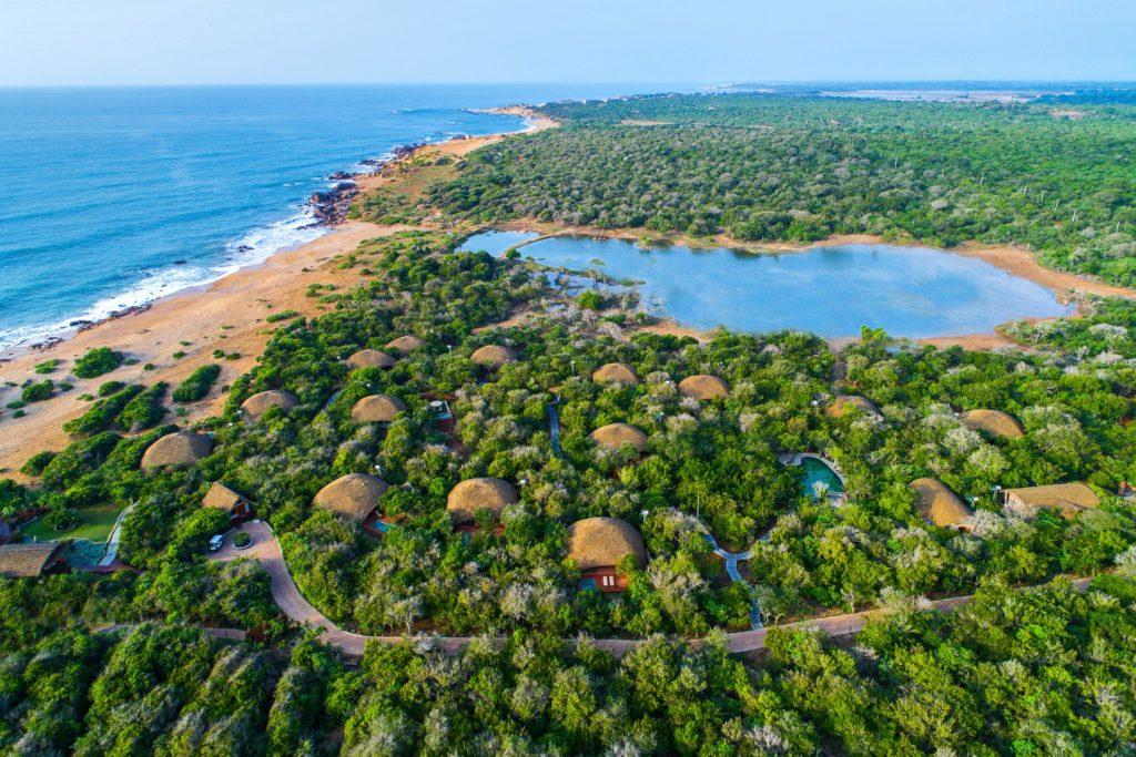 Sri Lanka - Yala - 1567 - Chena Huts From Above