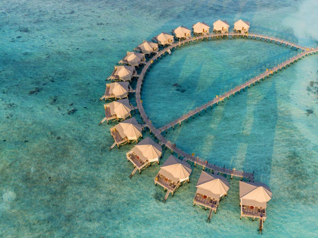Maldives - Lhaviyani Atoll - 1567 - Komandoo Island Resort - Aerial of ocean villas