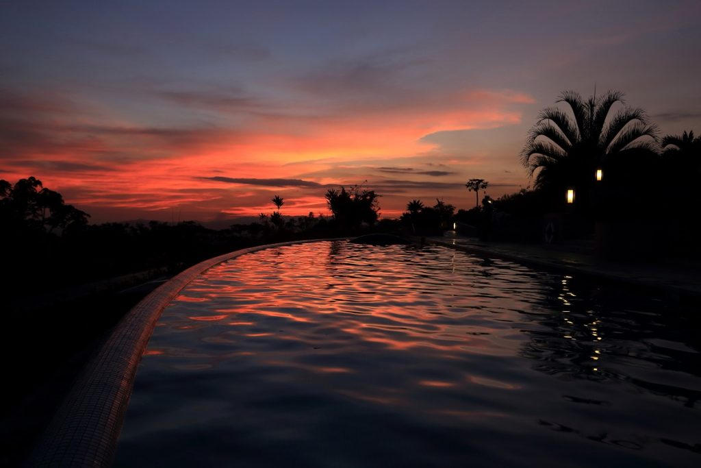 Costa Rica- Corcovado- 1570- Pool Views at Sunset