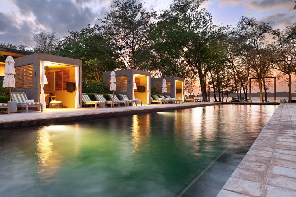 Costa Rica - Guanacaste - 1570 - El Mangroove Pool Cabanas at Night
