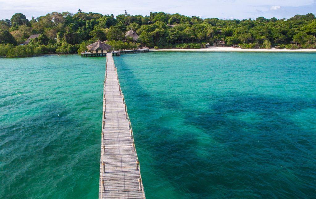 Fundu Lagoon Aerial Jetty Pemba Island