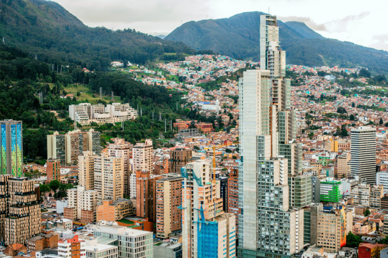 Colombia - 1558 - Bogota City Centre Panoramic Landscape View