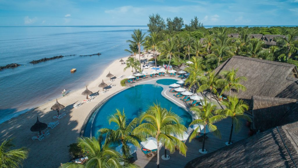 Mauritius - West Coast - Sand Suites Resort and Spa Aerial View of Beach and Hotel