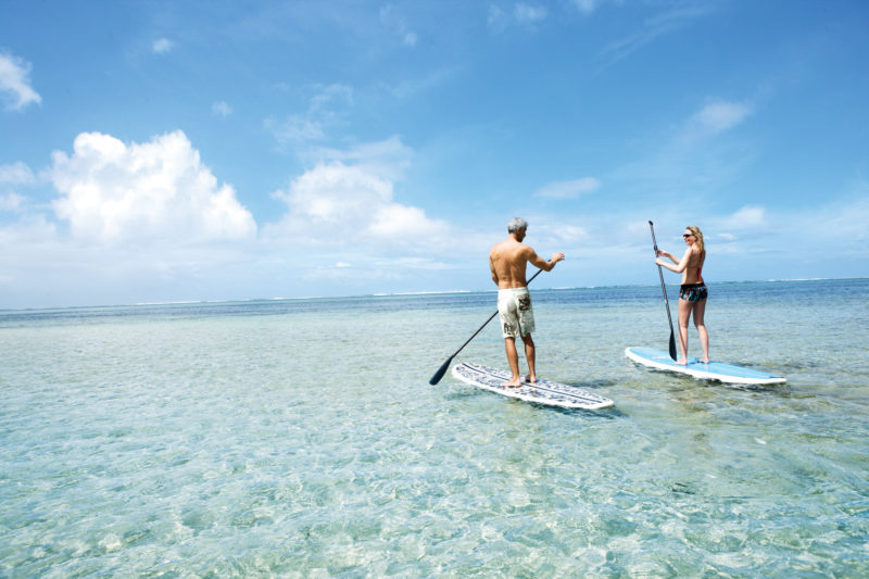 Mauritius - South Coast - 3996 - Heritage Telfair Resort & Spa - Water-Sport Stand up Paddle on the beach