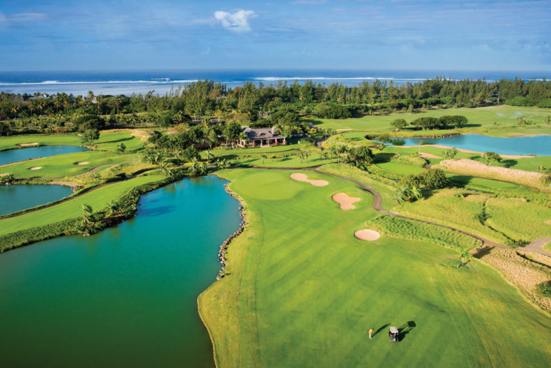 Mauritius - South Coast - 3996 - Heritage Telfair Resort & Spa - Golf Club - Aerial View - Putting green