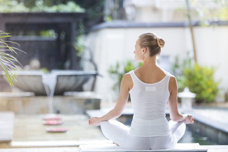 Mauritius - South Coast - 3996 - Heritage Telfair Resort & Spa - Wellness Yoga in calm gardens