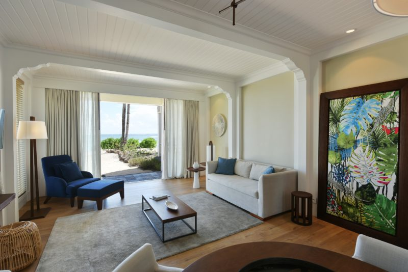 Mauritius - South Coast - 3996 - Heritage Telfair Resort & Spa - Ocean Suite lounge