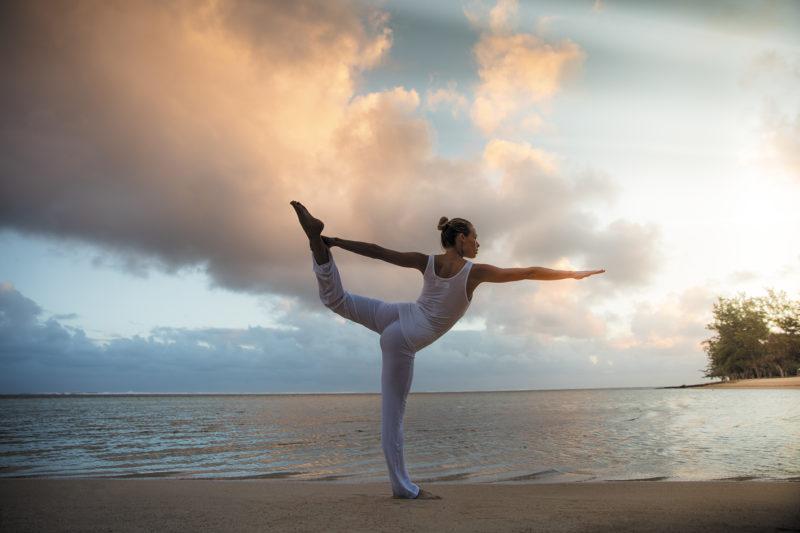 Mauritius - South Coast - 3996 - Heritage Telfair Resort & Spa - Wellness Yoga on the beach