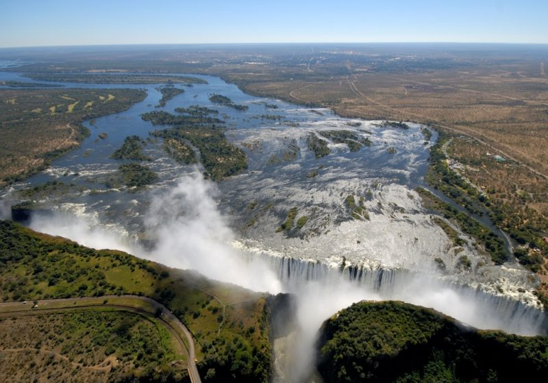 Best of Chobe and Victoria Falls - 1553 - The Victoria Falls - From Helicopter Viewpoint