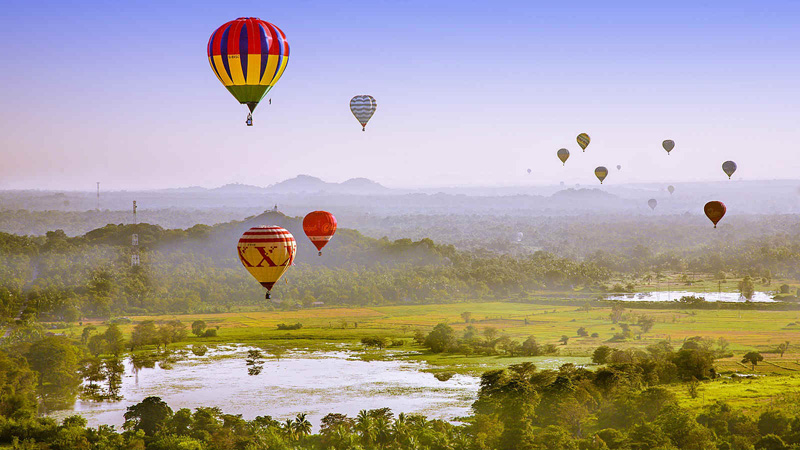 Exquisite Sri Lanka - 1567 - Hot Air Balloon Ride Over Countryside