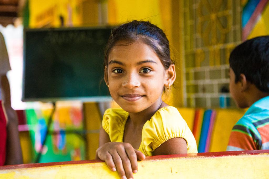Young Girl in Goa School, India