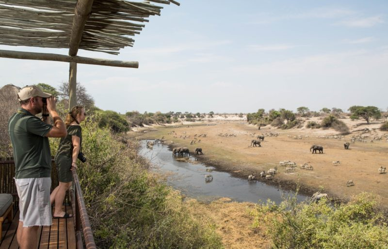 Botswana Desert to Delta - 1553 - Leroo Le Tau - Decking Views - Binoculars Spotting Wildlife