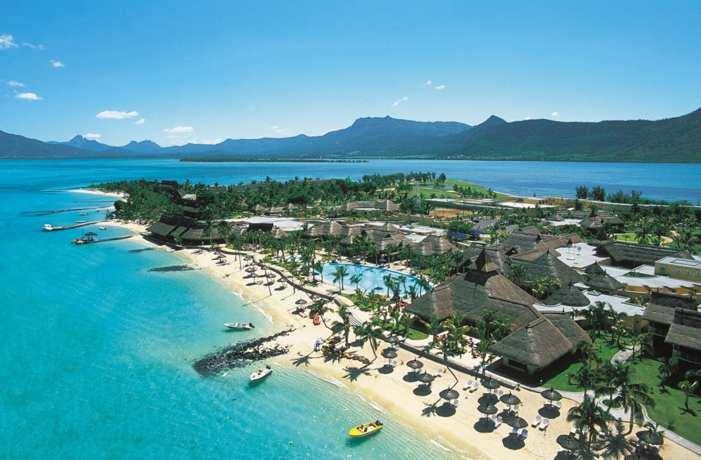 Paradis Beachcomber Golf Resort & Spa Le Morne Mauritius from above