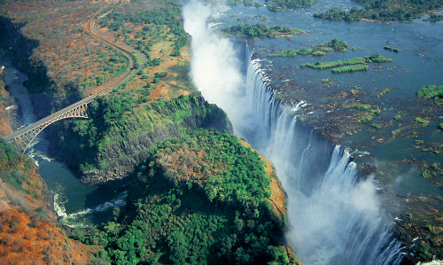 Best of Chobe and Victoria Falls - 1553 - Ariel View in Green Season
