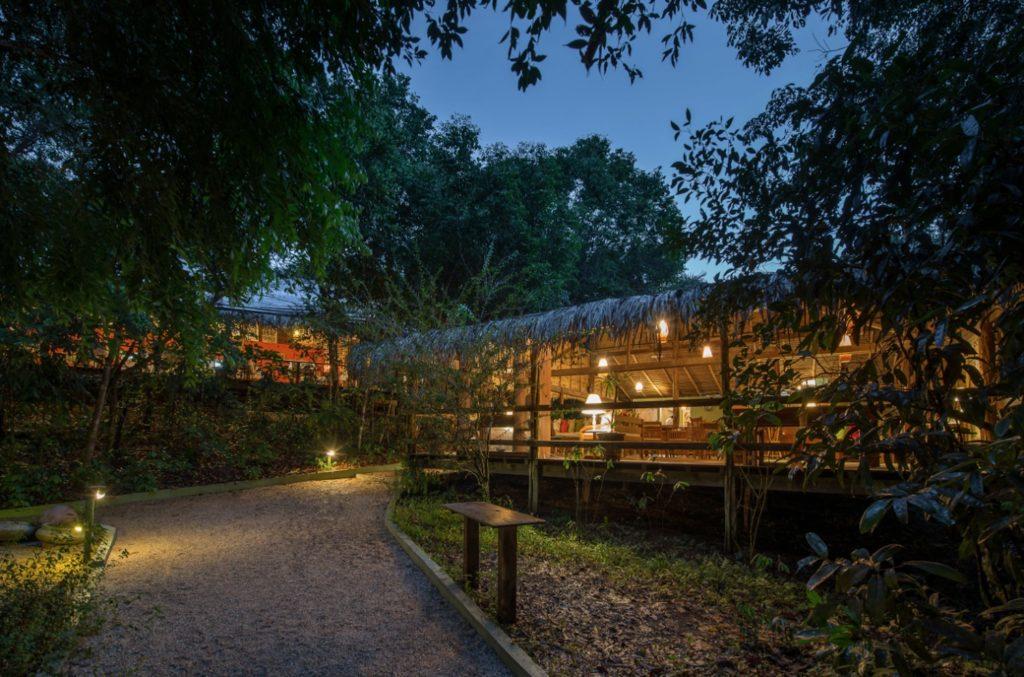 Brazil - 1569 - Amazon - Anavilhanas Jungle Lodge Hotel Night Exterior