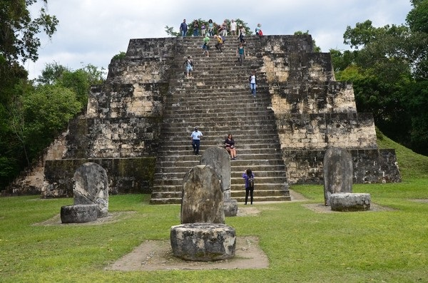 Honduras Highlights - 10024 - Copan - Stepped Pyramid
