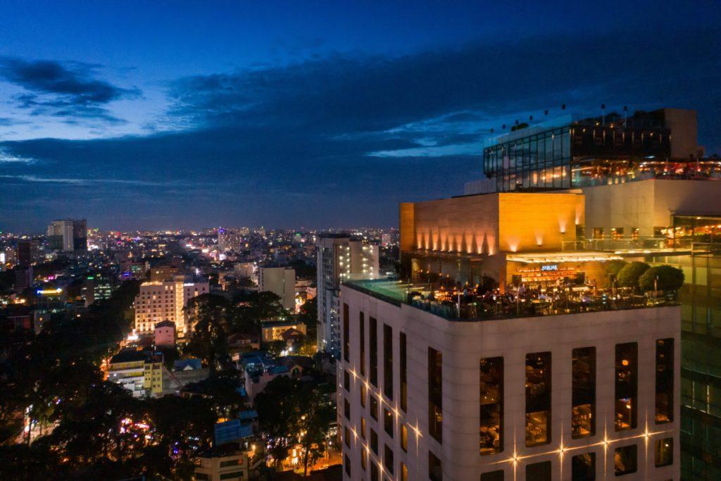 Vietnam - Ho Chi Minh City - 16103 - hotel arial at night