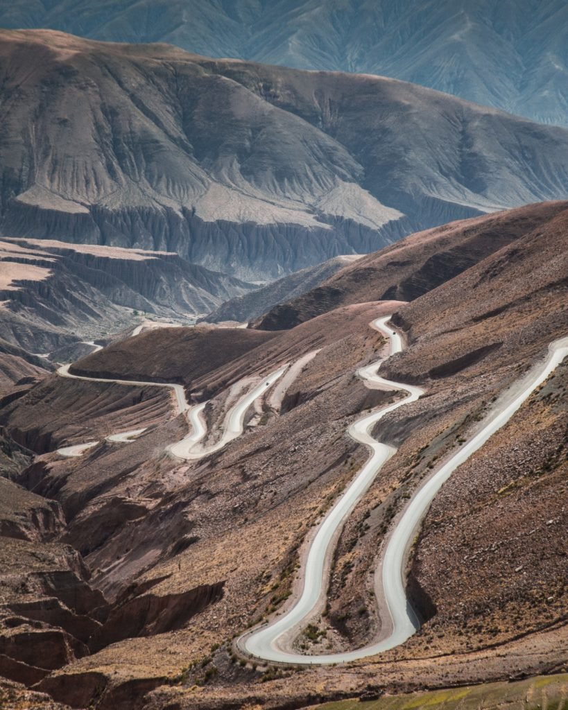 Argentina - 1584 - Calchaquí Valleys Cuesta del Obispo - Northwest - Winding Road