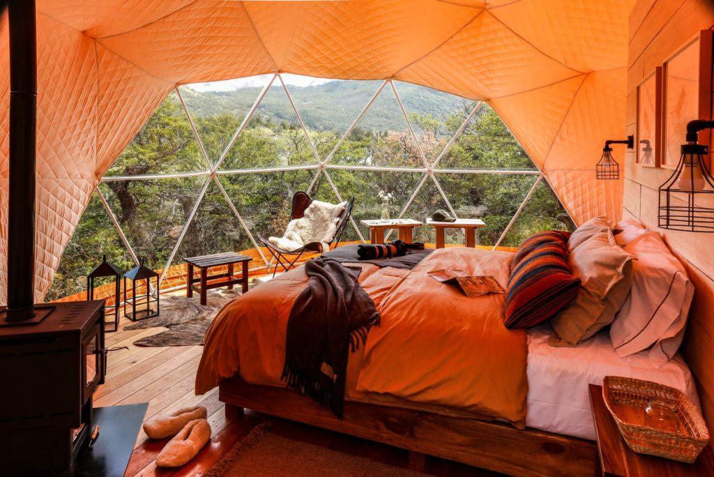 Argentina - 1584 - Chaltén Camp - Dome - Bedroom