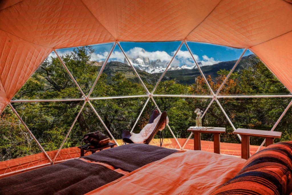 Argentina - 1584 - Chaltén Camp - Dome - Mountain Views