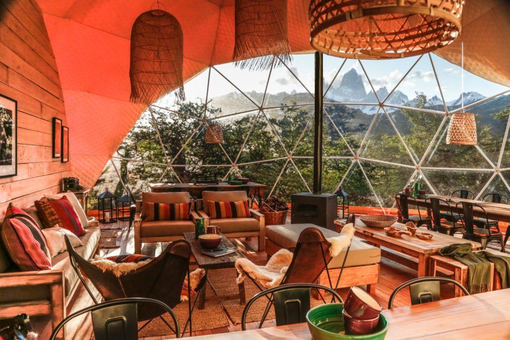 Argentina - 1584 - Chaltén Camp - Main Dome - Lounge Chairs