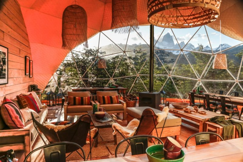 Argentina - 1584 - Chaltén Camp - Main Dome - Lounge Chairs