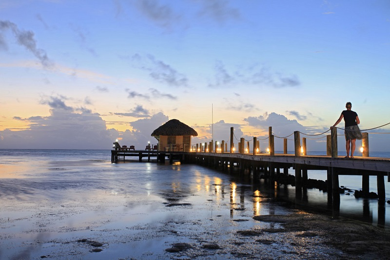 Highlights of Belize - 10024 - Ambergris Caye Beach Pier