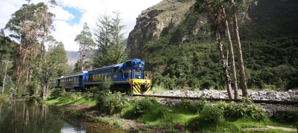 Peru - 1559 - Cusco - Train to Machu Picchu - Blue Trains