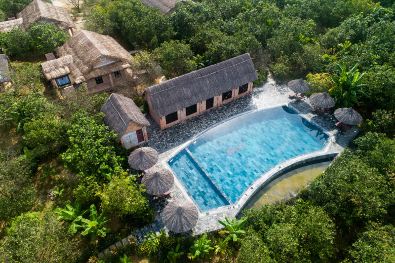 Vietnam - Hue - 16103 - Swimming Pool from above