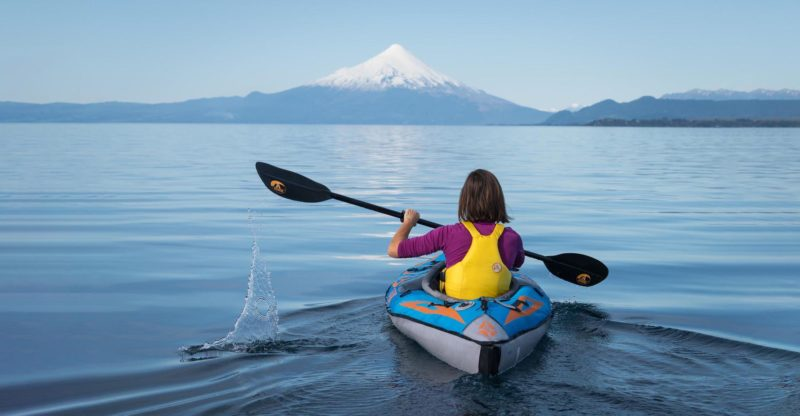 Chile - 1560 - Lago LLanquihue Mountain Lake Kayaking