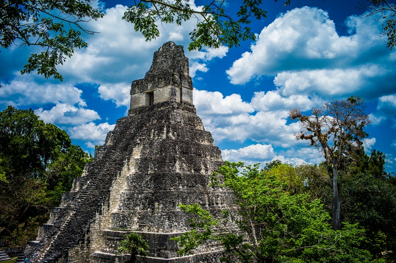 Guatemala Adventure Journey - 10024 - Peten Mayan Ancient Civilisation Stepped Pyramid