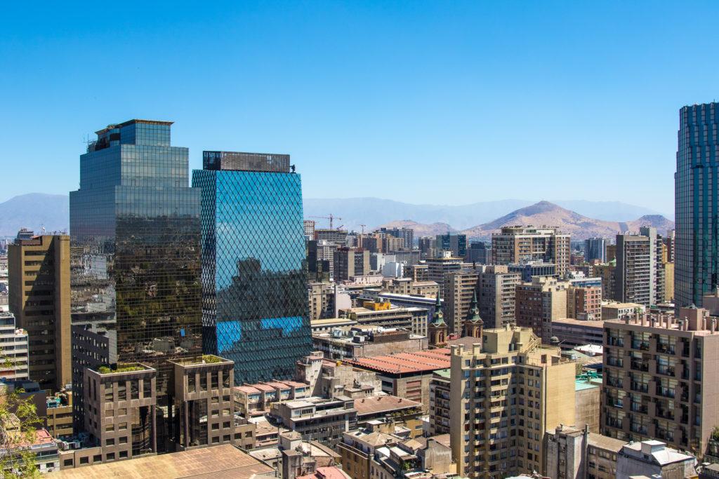 Chile - 1560 - Santiago - City Landscape Skyscrapers