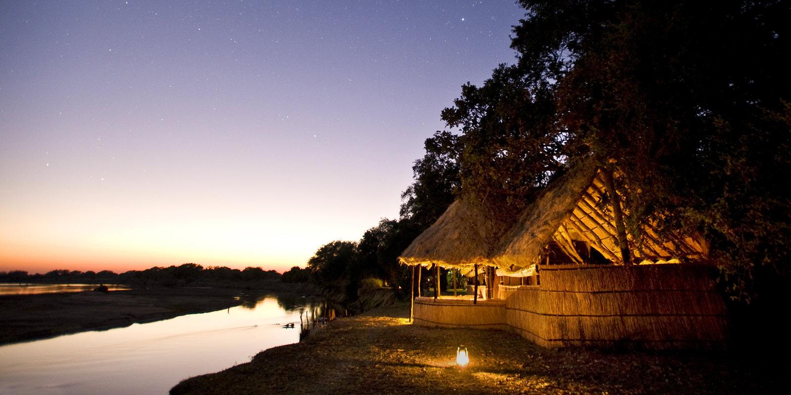 Zambia - South Luangwa National Park - 1564 - Tafika Camp at Night