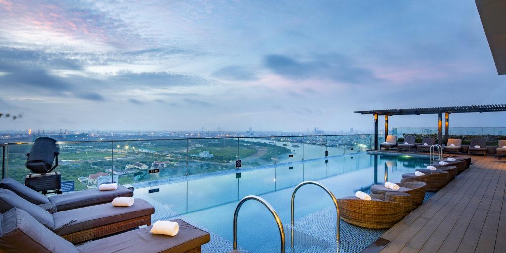 Riverside Rooftop Pool View