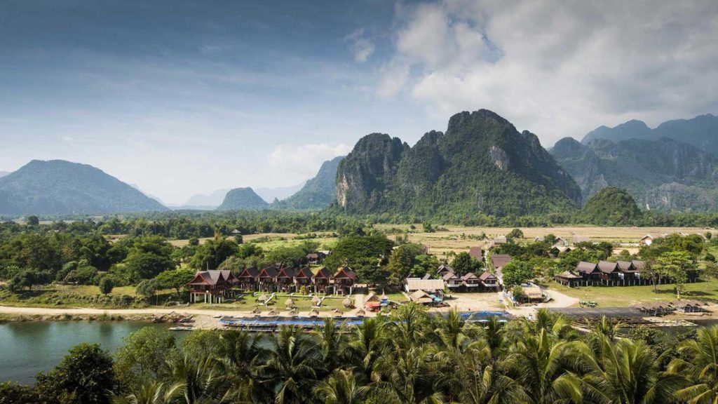 Laos - 17089 - Vang Vieng - Mountains and River