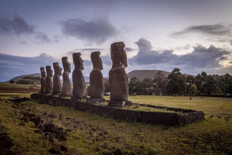 Chile - Easter Island -1560 - Rapa Nui Easter Island Ahu Akivi