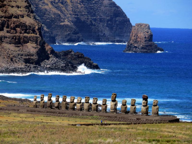 Chile - Easter Island -1560 - Rapa Nui Easter Island Ahu Tongariki