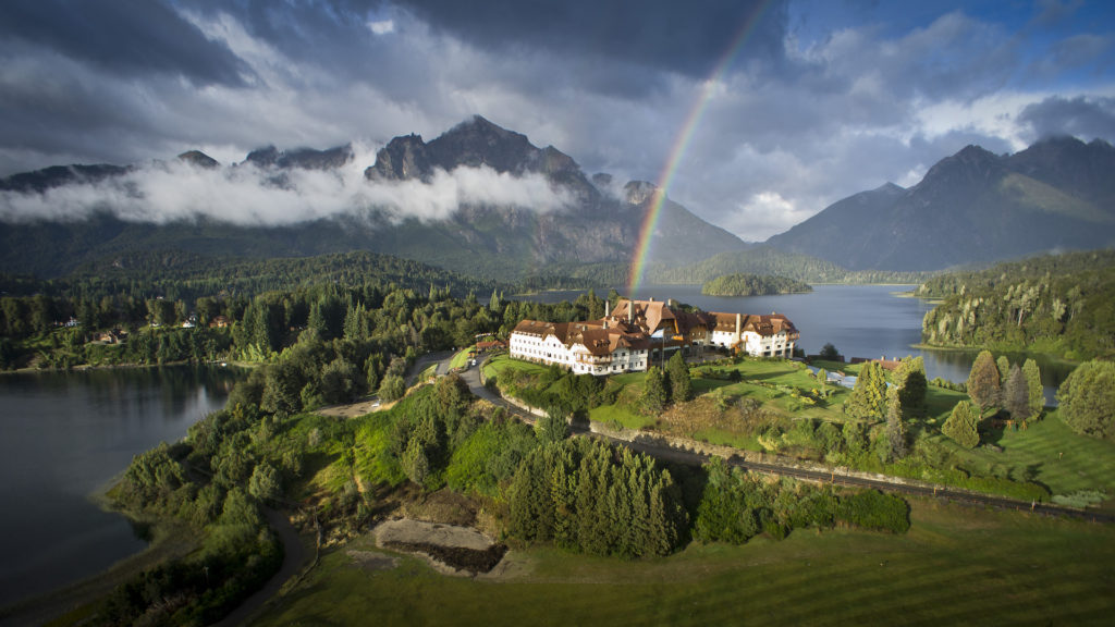 Argentina - 1584 - Llao Llao Hotel Panoramic Bariloche Rainbow Mountain Landscape