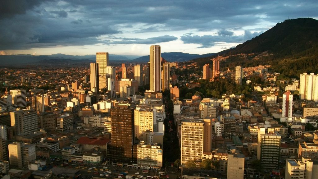 Colombia - 1558 - Bogota City Centre Panoramic Landscape