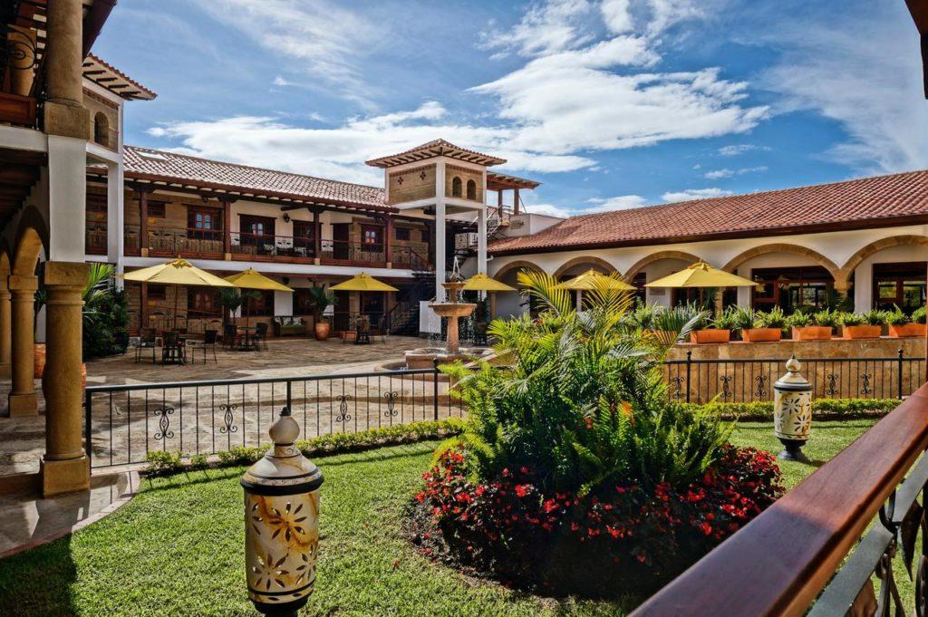 Colombia - Villa de Leyva - 1558 - Hotel Campanario de La Villa Exterior Courtyard