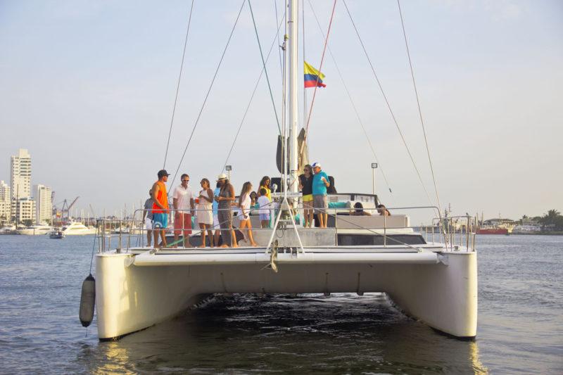 Colombia - 1558 - Cartagena Catamaran Boat Ocean