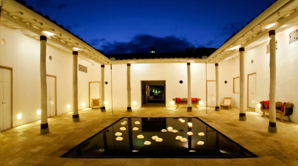 Colombia - 1558 - Villa de Leyva Casa Oniri Hotel Exterior Landscape