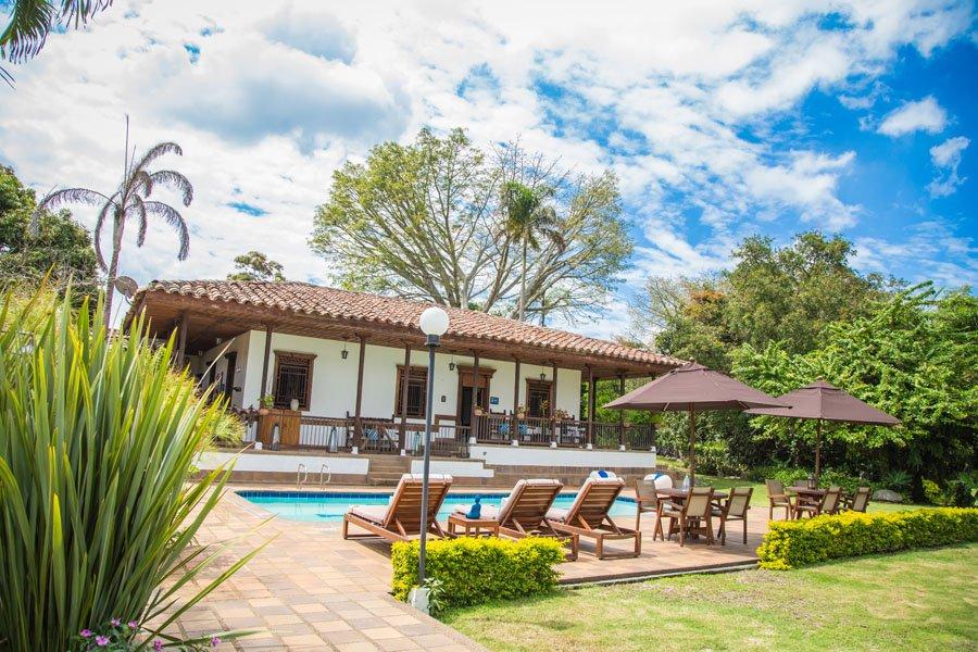 Colombia - 1558 - Montenegro Casa de Campo Exterior Poolside Hotel