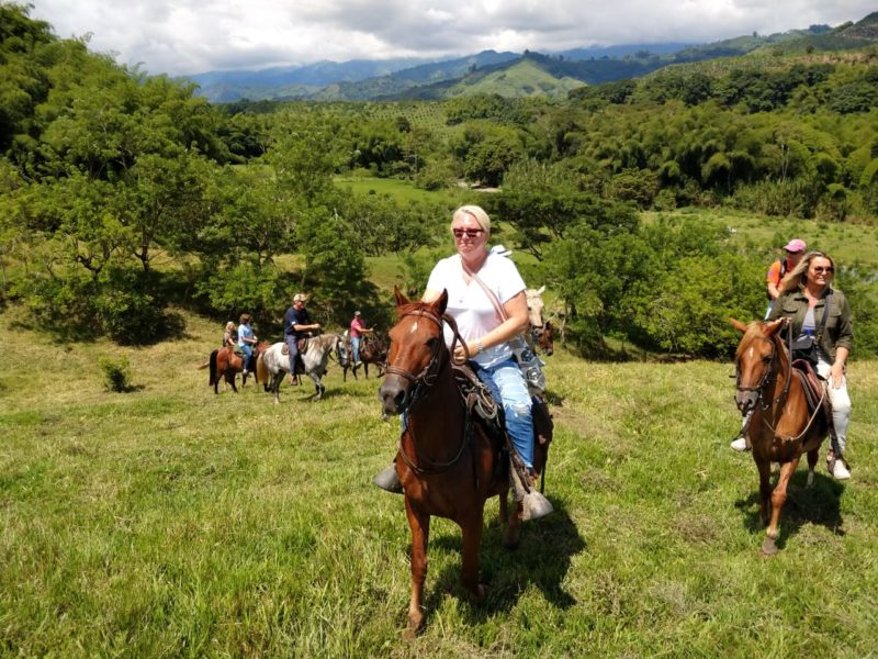 Colombia - 1558 - Coffee Cultural Landscape Horseback Riding Greenery Picnic