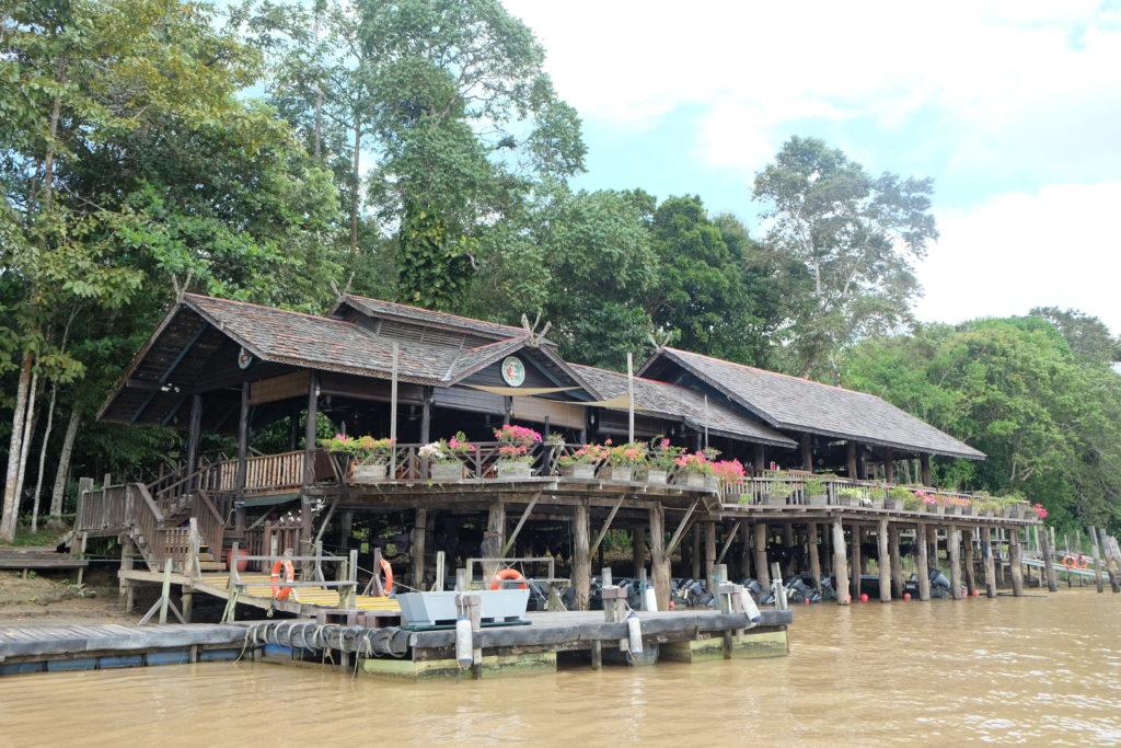 Malaysia - Borneo - 18266 - Sukau Rainforest Lodge from riverbank
