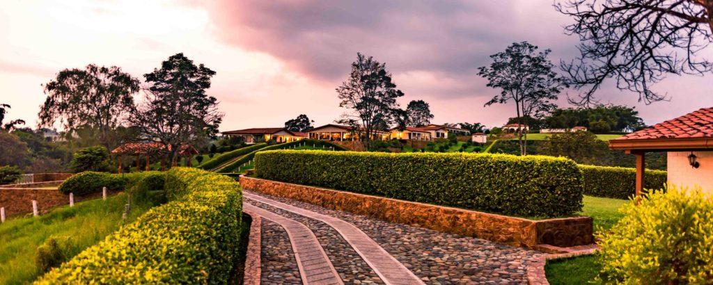 Colombia - 1558 - Armenia Hotel Estrella del Monte Garden Sunset Exterior Landscape