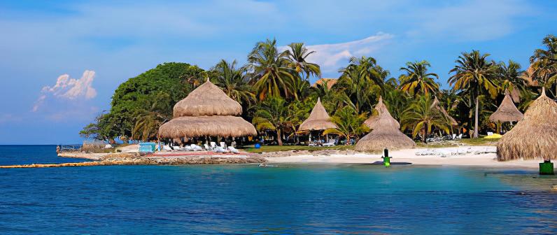Colombia - 1558 - Rosario Island Beach Ocean Trees